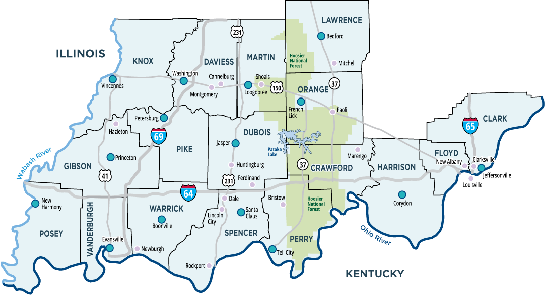 About Us Southern Indiana Regional Marketing Coop - Indiana map of us